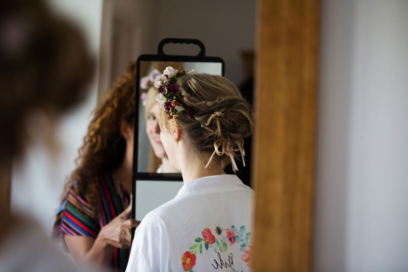 Devon Wedding Hair - Bridal hair - Wedding hair styling for bride and bridesmaids