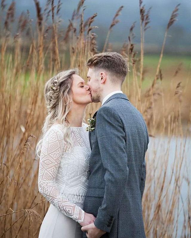 Devon Wedding Hair - Bridal hair - bride and bridesmaids - flower crown